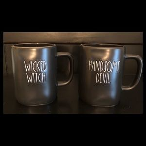 Rae Dunn 👿 WICKED WITCH & HANDSOME DEVIL MUGS
